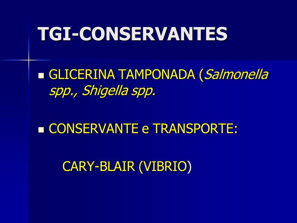 TGI-CONSERVANTES GLICERINA TAMPONADA (Salmonella spp., Shigella spp.