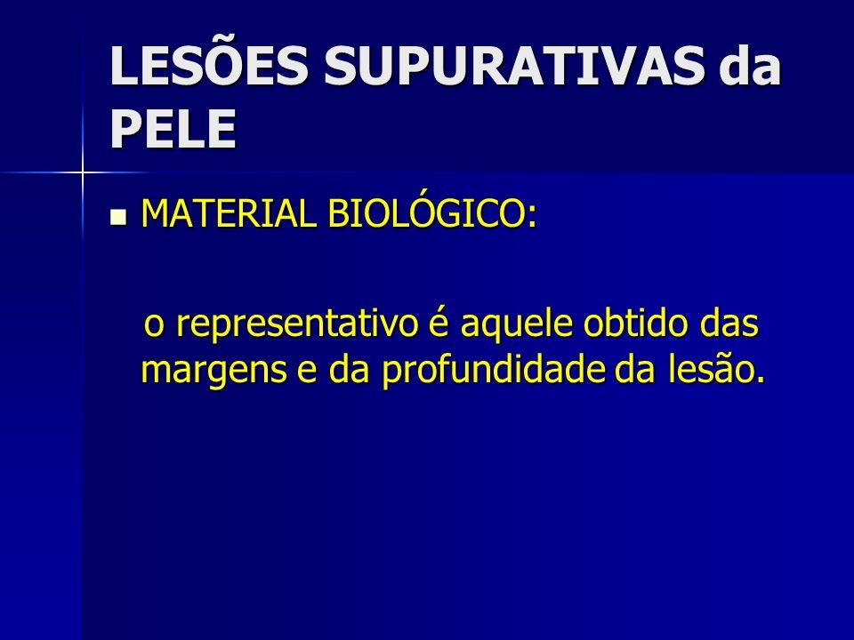 LESÕES SUPURATIVAS da PELE
