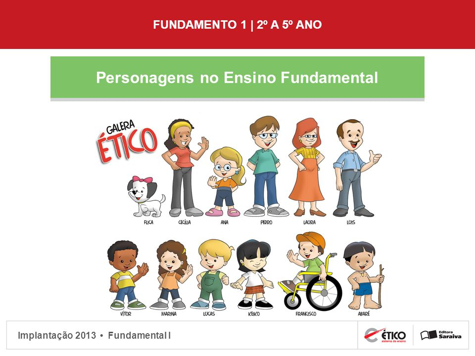 Personagens no Ensino Fundamental
