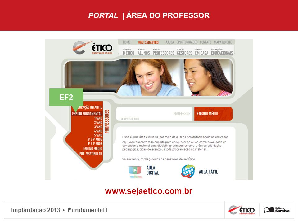 PORTAL | ÁREA DO PROFESSOR