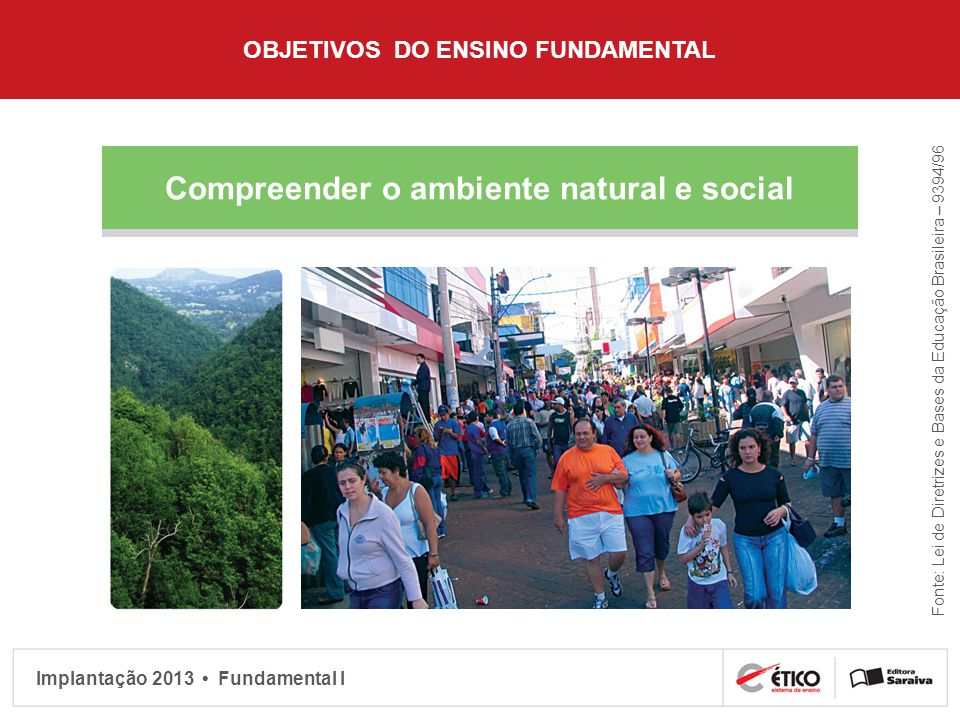 Compreender o ambiente natural e social