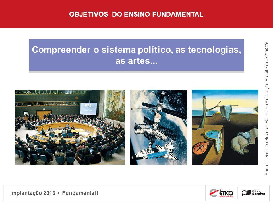 Compreender o sistema político, as tecnologias, as artes...