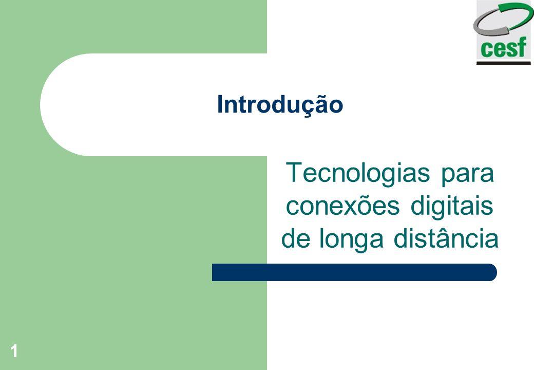 Tecnologias para conexões digitais de longa distância
