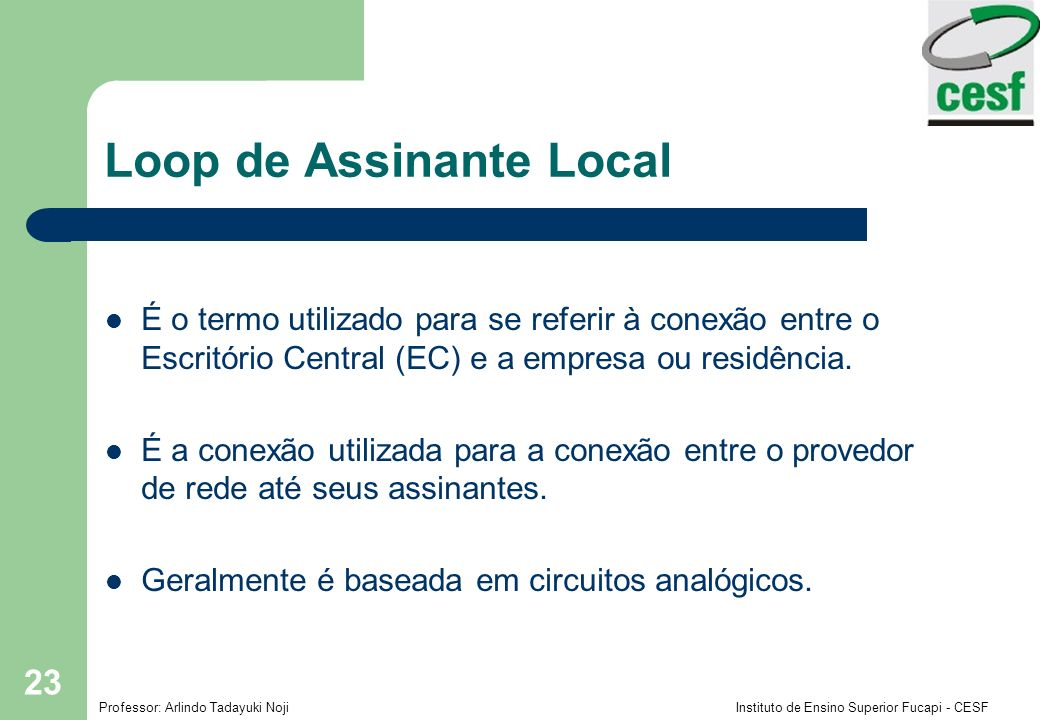 Loop de Assinante Local