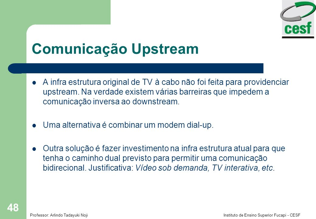 Comunicação Upstream