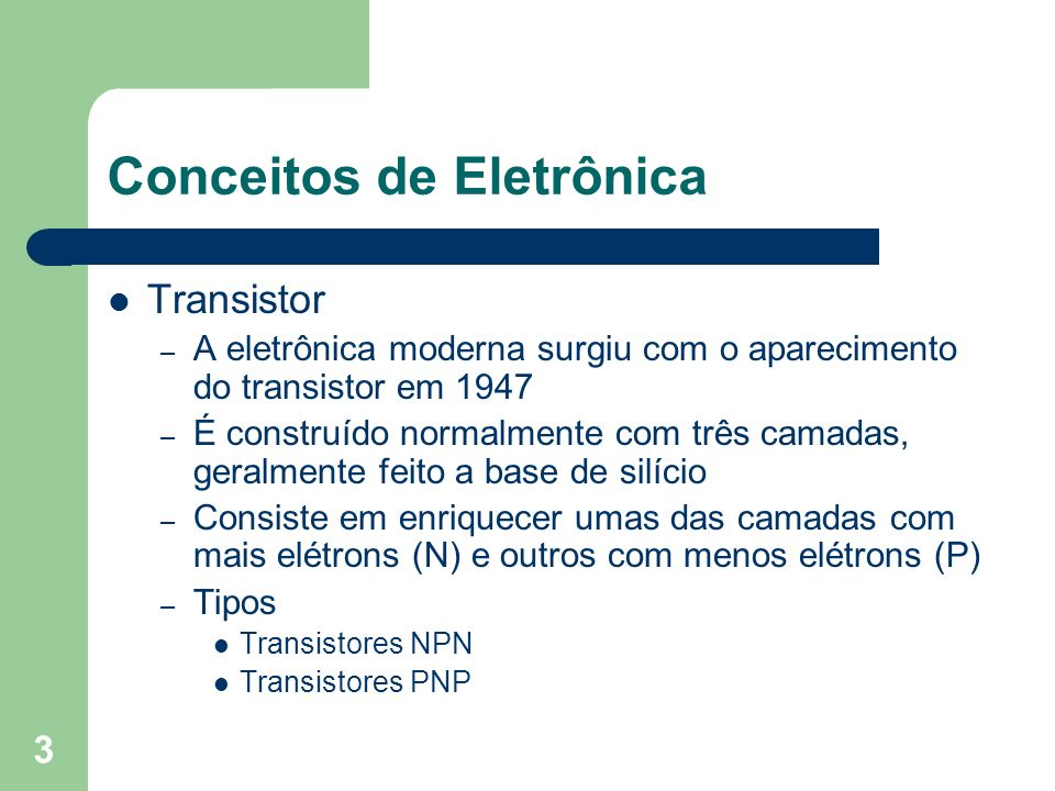 Conceitos de Eletrônica