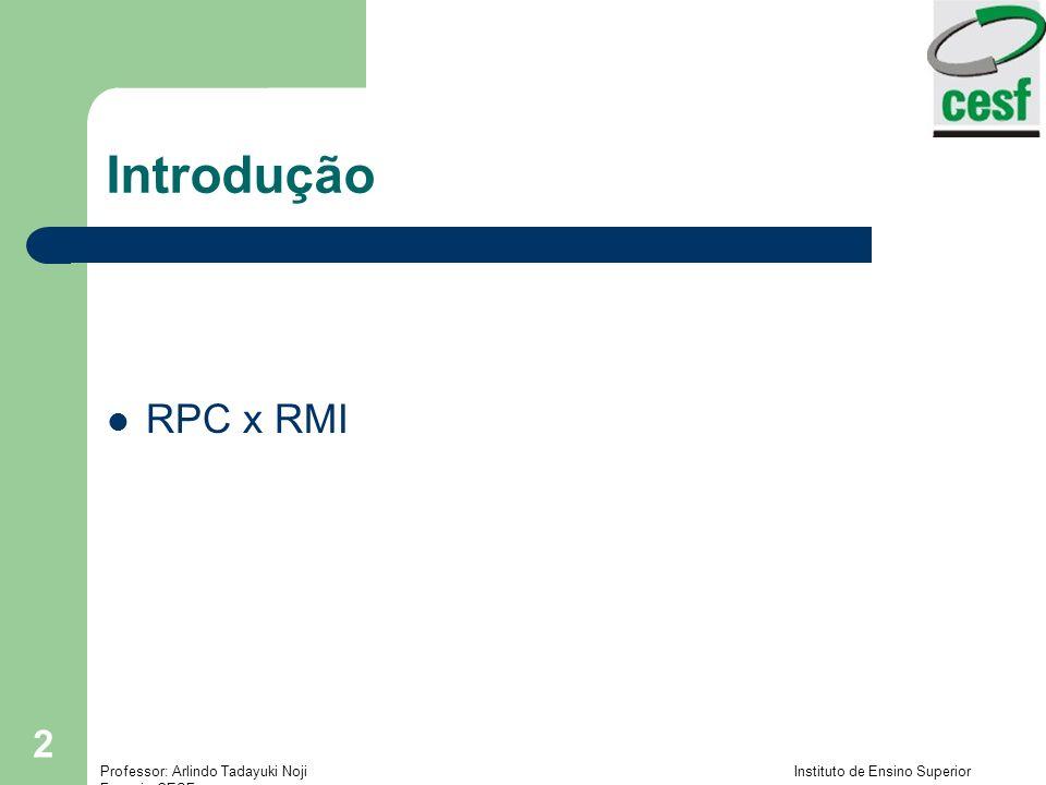 Introdução RPC x RMI