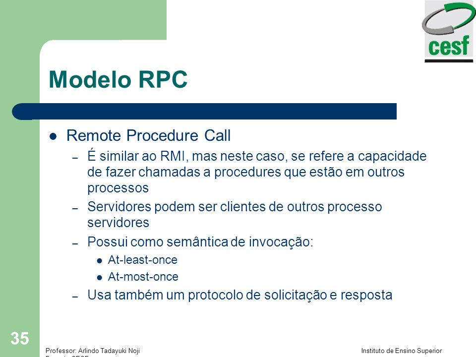 Modelo RPC Remote Procedure Call