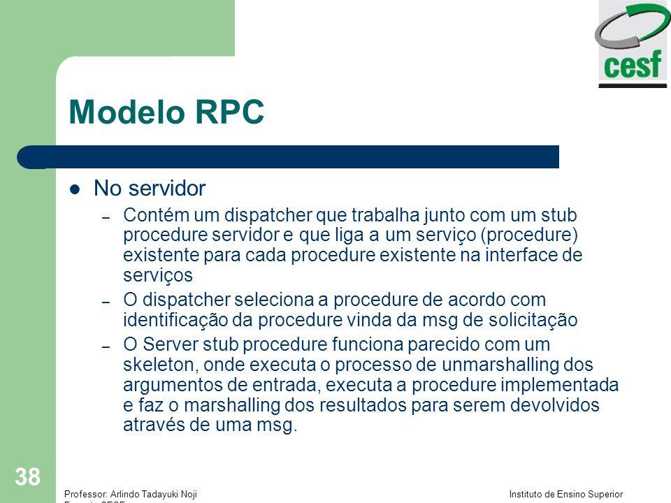Modelo RPC No servidor.
