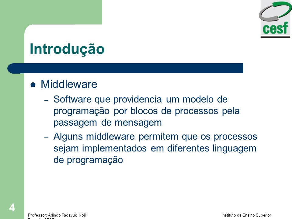 Introdução Middleware