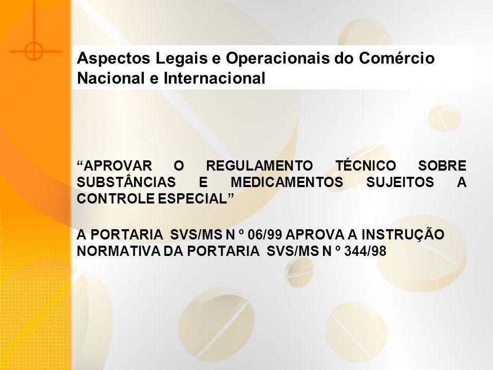 Aspectos Legais e Operacionais do Comércio Nacional e Internacional