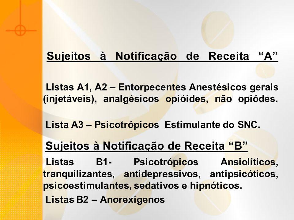 Sujeitos à Notificação de Receita B