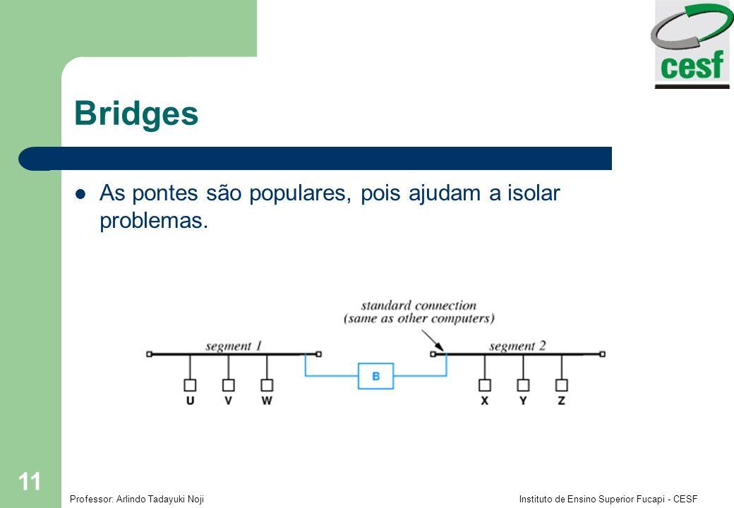 Bridges As pontes são populares, pois ajudam a isolar problemas.