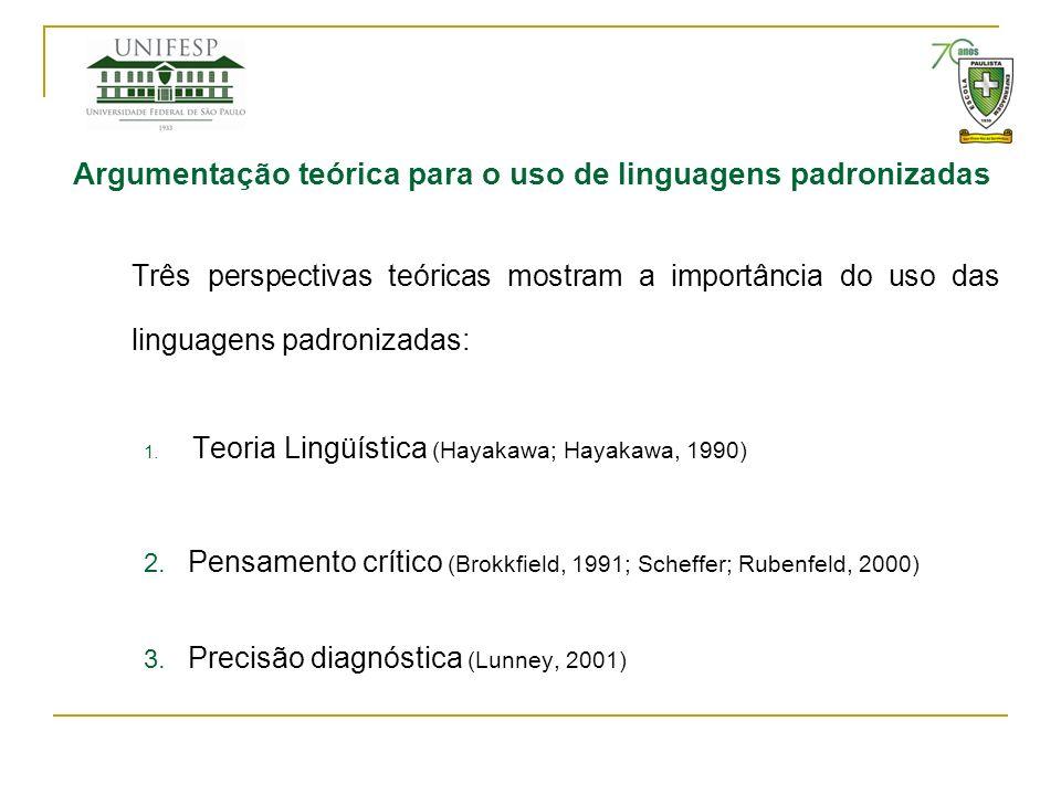 Argumentação teórica para o uso de linguagens padronizadas