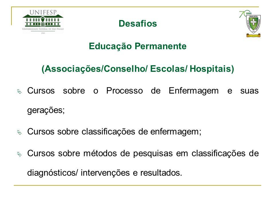 (Associações/Conselho/ Escolas/ Hospitais)