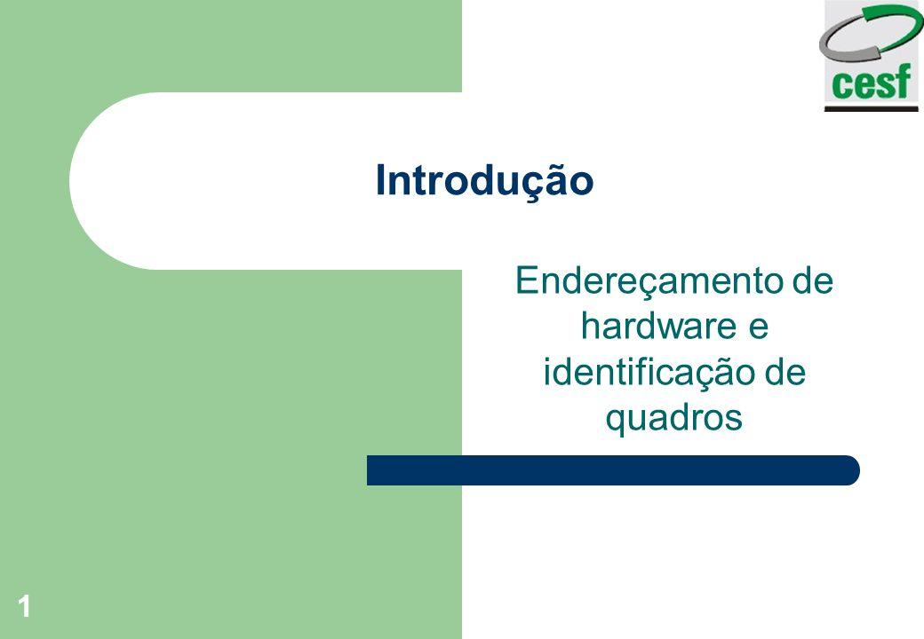 Endereçamento de hardware e identificação de quadros
