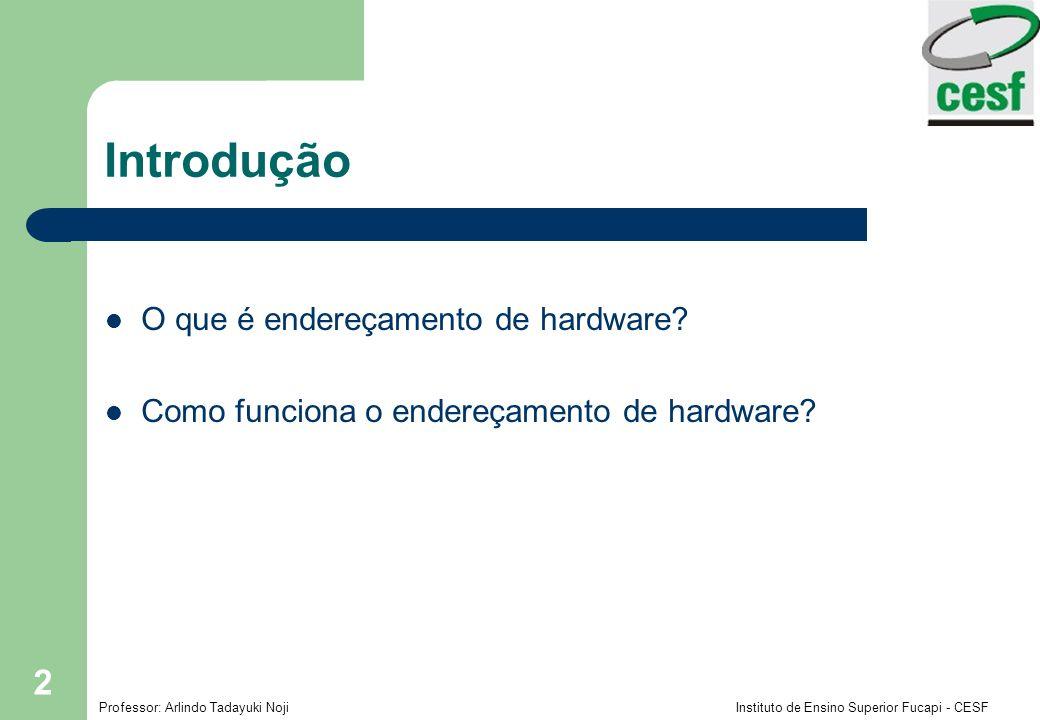 Introdução O que é endereçamento de hardware