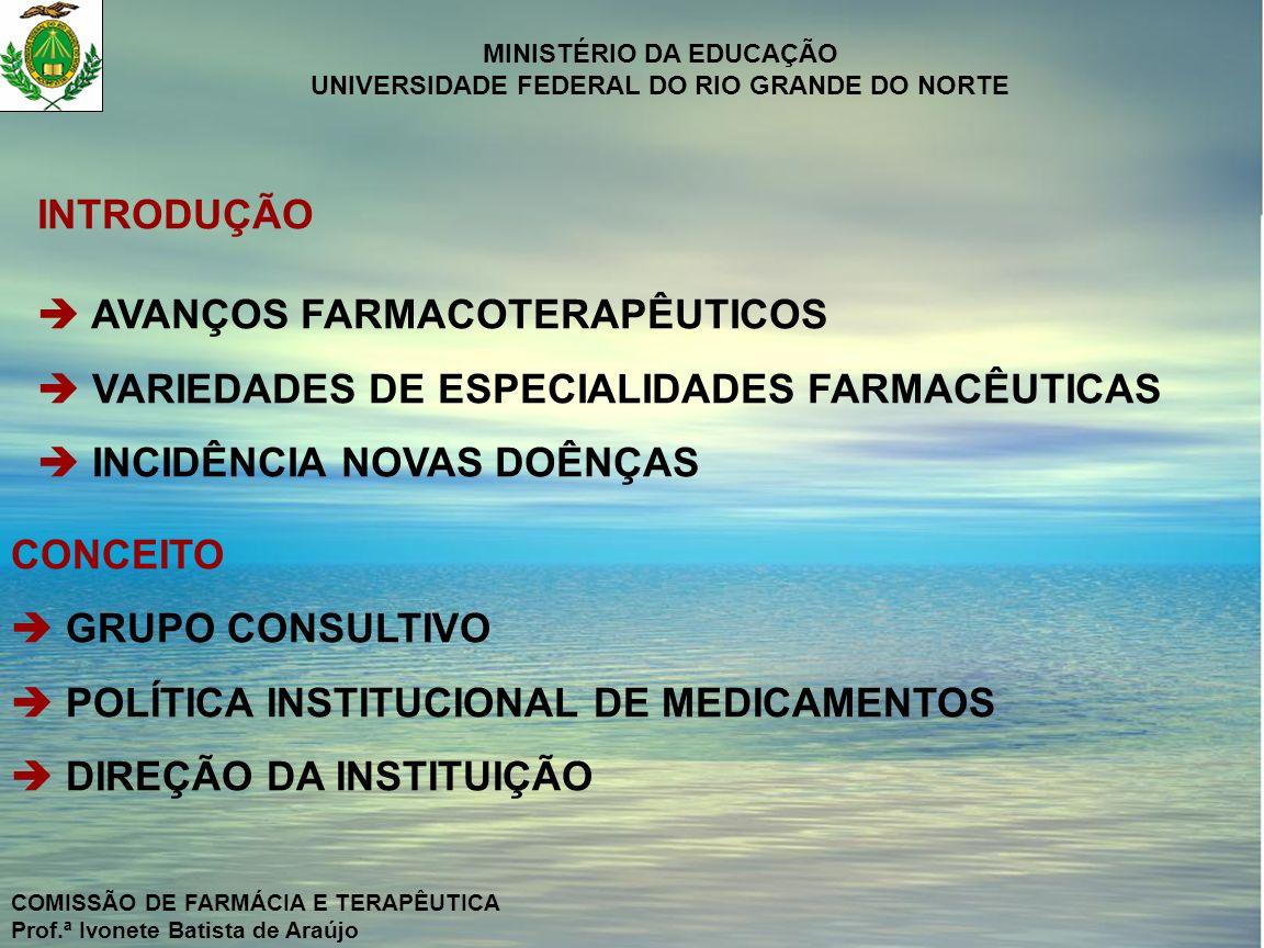  AVANÇOS FARMACOTERAPÊUTICOS