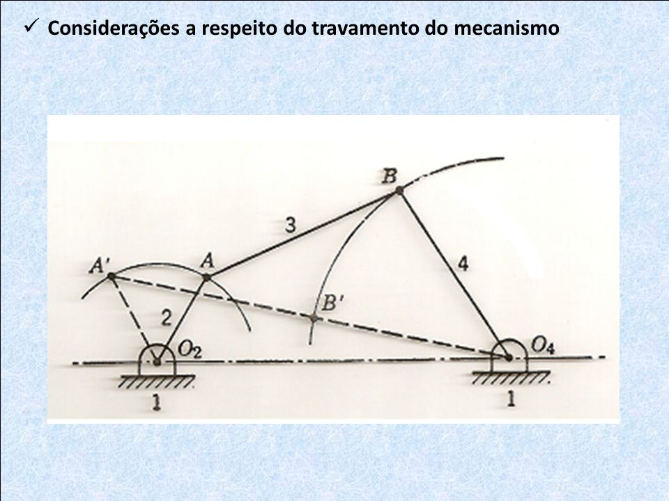 Considerações a respeito do travamento do mecanismo