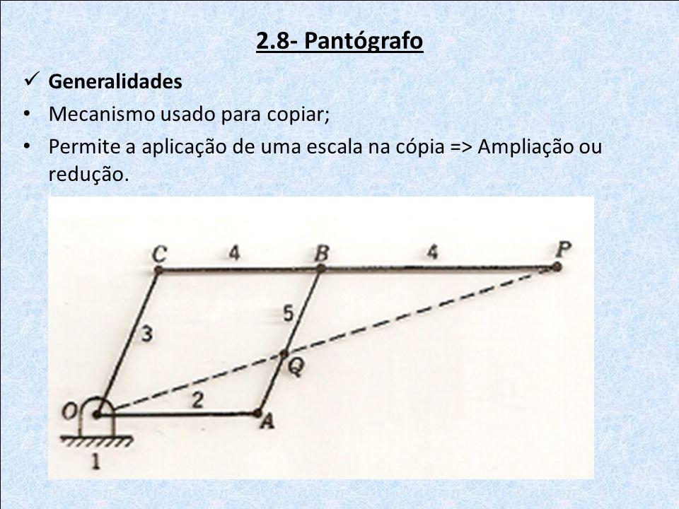 2.8- Pantógrafo Generalidades Mecanismo usado para copiar;