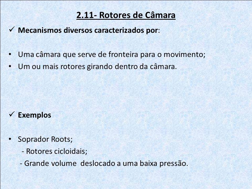2.11- Rotores de Câmara Mecanismos diversos caracterizados por: