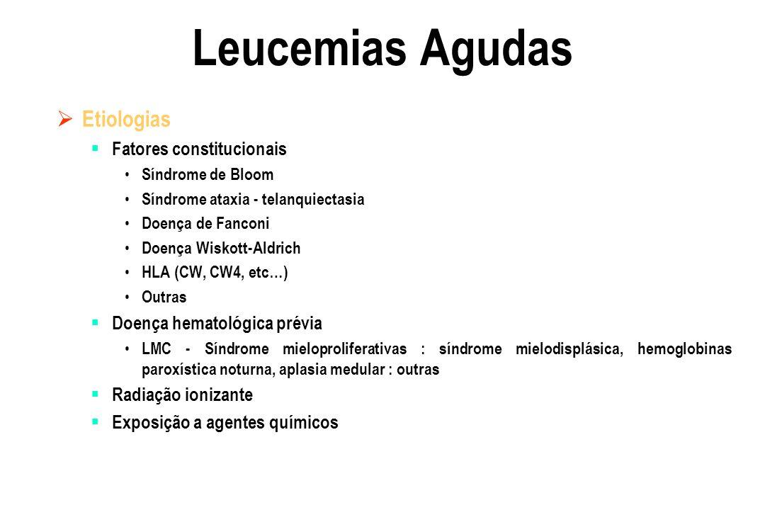 Leucemias Agudas Etiologias Fatores constitucionais