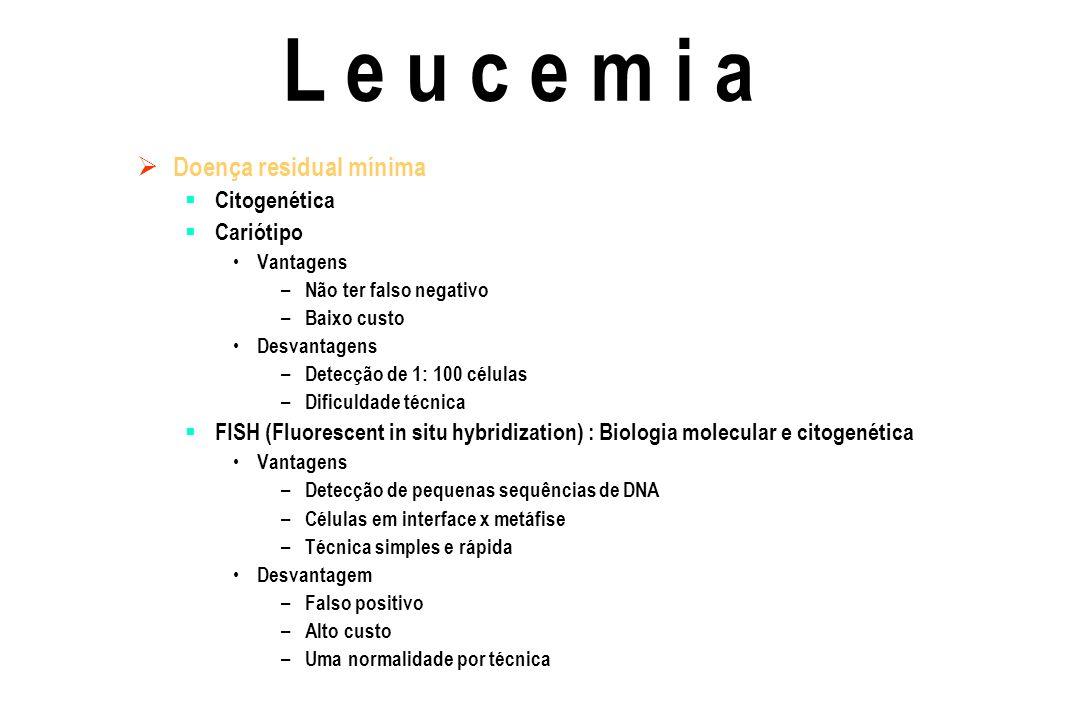 L e u c e m i a Doença residual mínima Citogenética Cariótipo