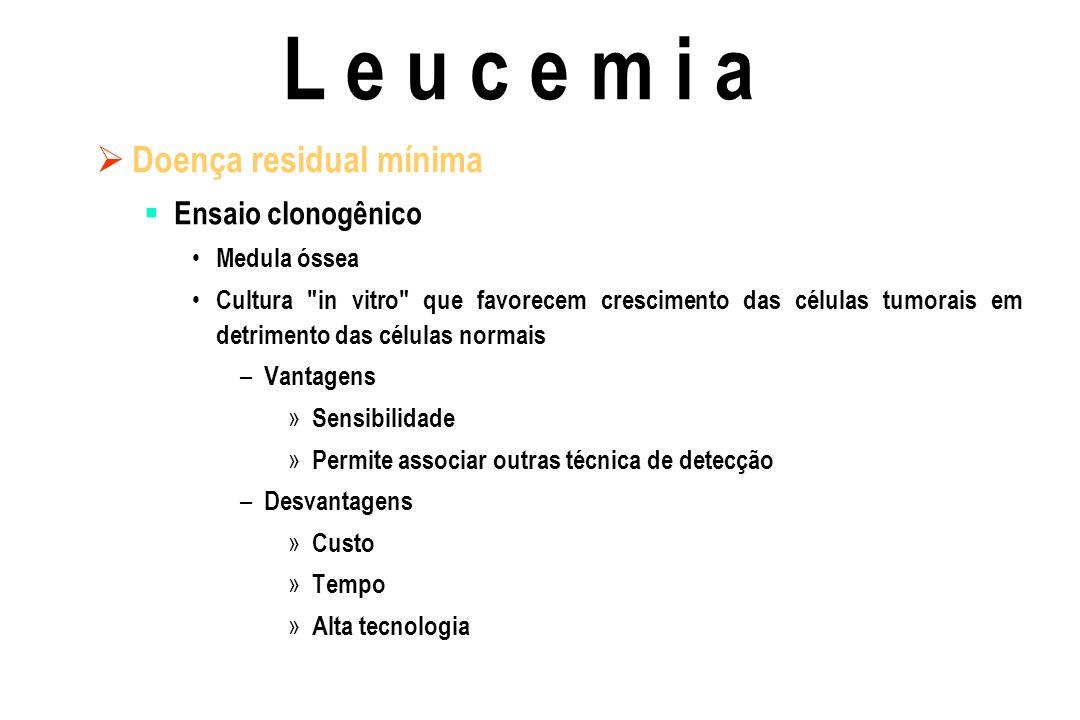 L e u c e m i a Doença residual mínima Ensaio clonogênico Medula óssea