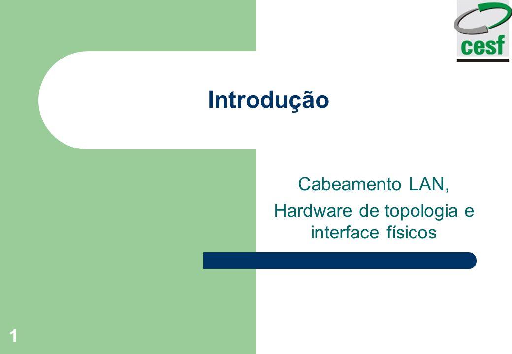 Cabeamento LAN, Hardware de topologia e interface físicos