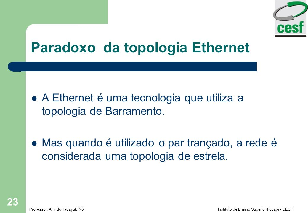 Paradoxo da topologia Ethernet