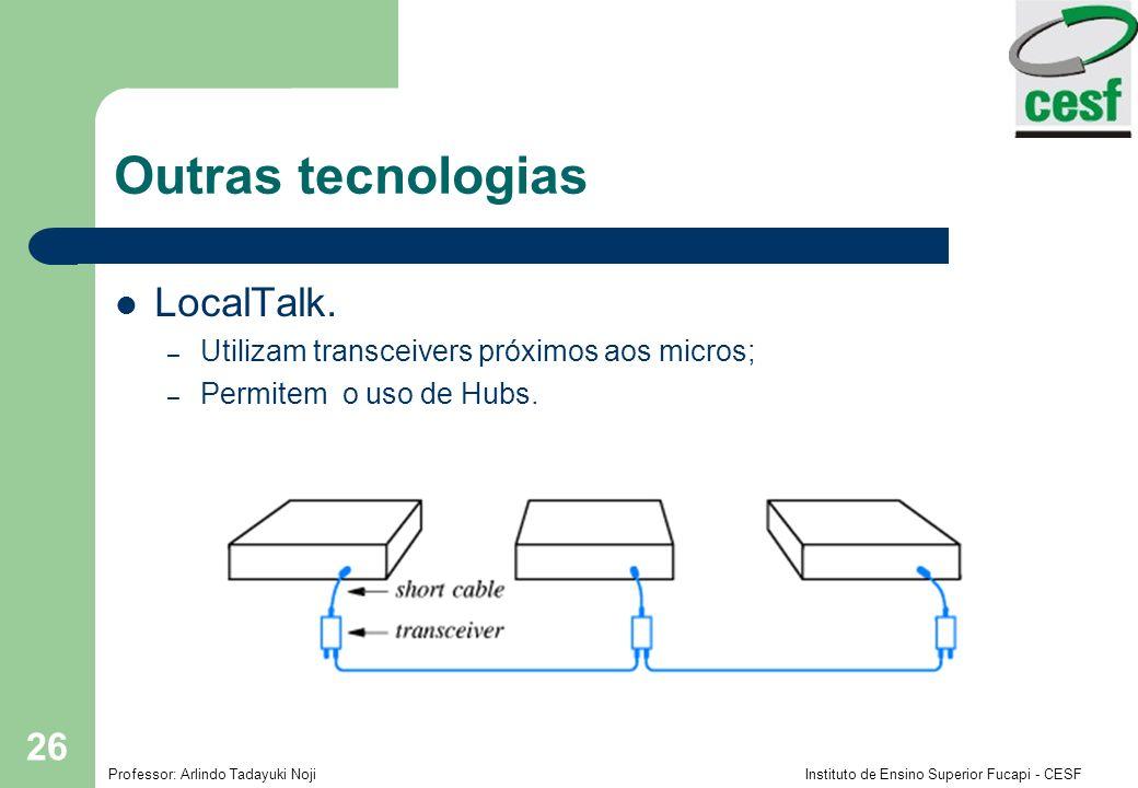 Outras tecnologias LocalTalk.