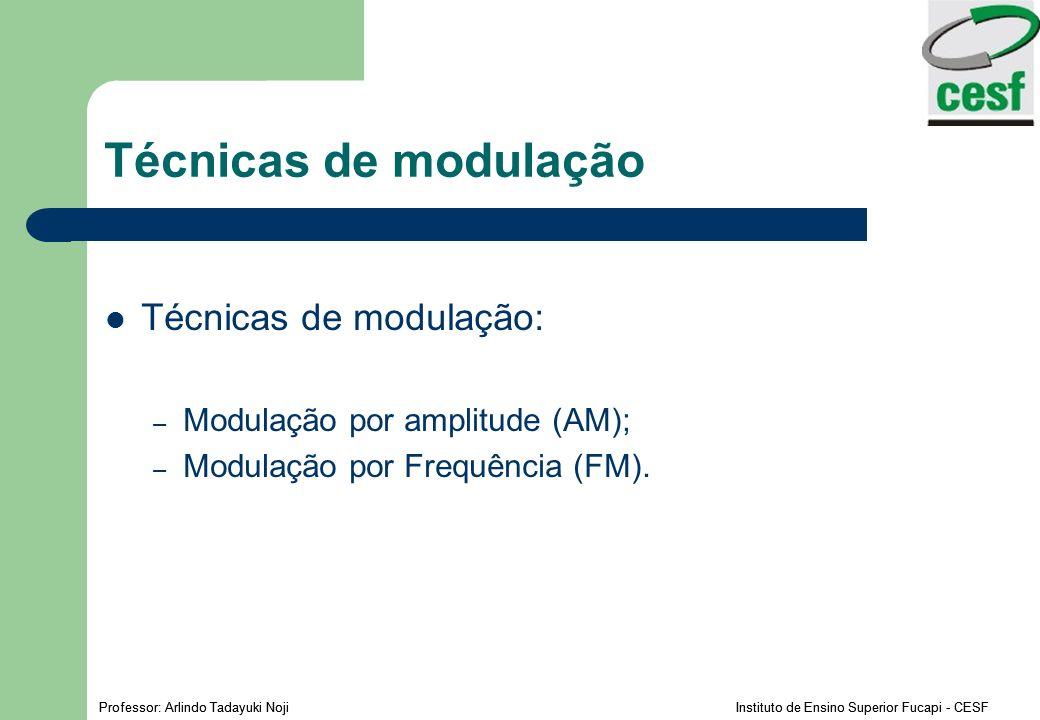 Técnicas de modulação Técnicas de modulação: