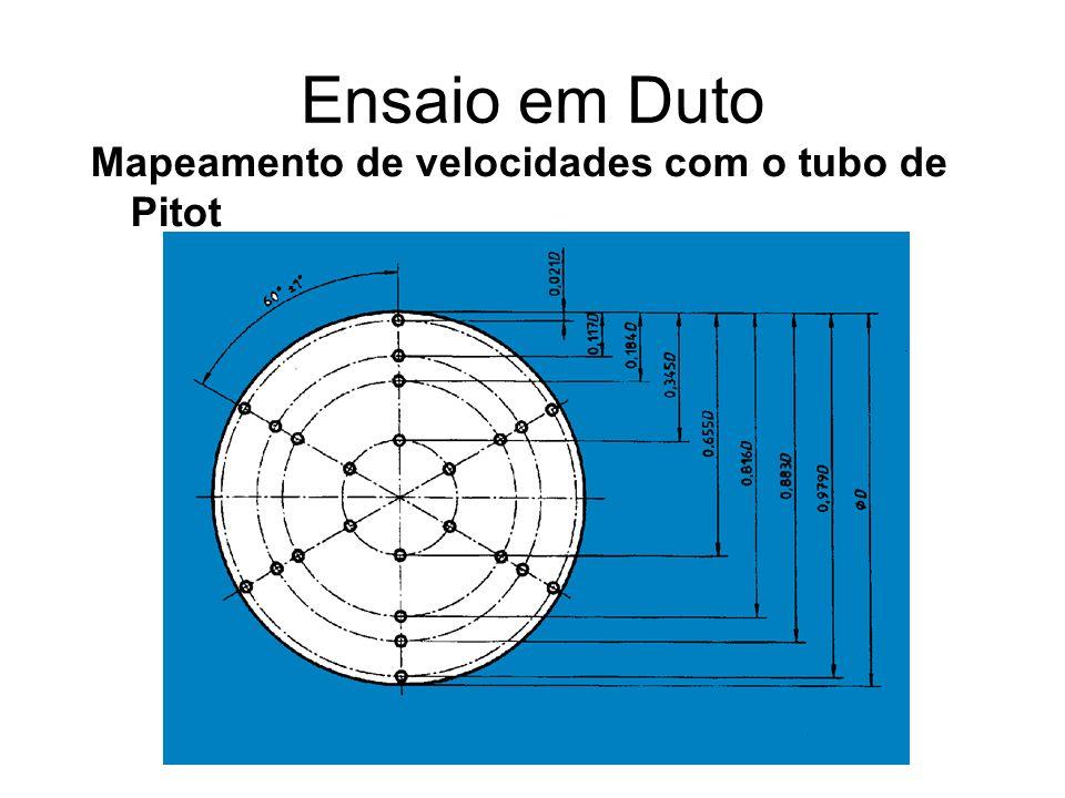 Ensaio em Duto Mapeamento de velocidades com o tubo de Pitot