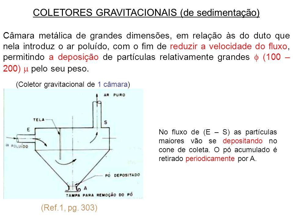 COLETORES GRAVITACIONAIS (de sedimentação)