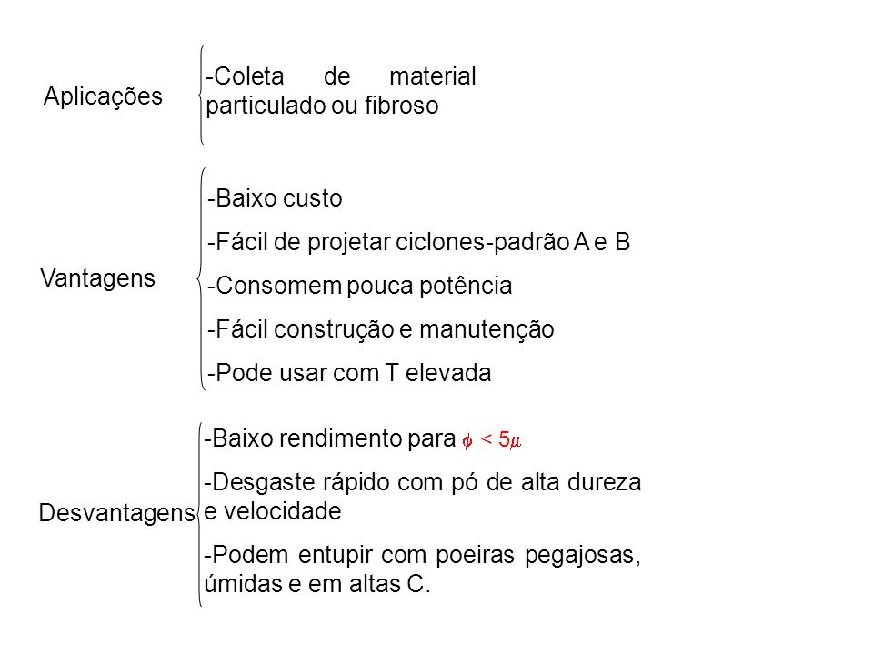 Coleta de material particulado ou fibroso