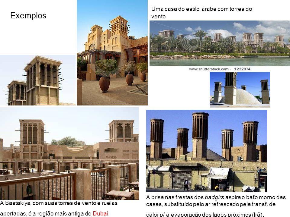 Exemplos Uma casa do estilo árabe com torres do vento