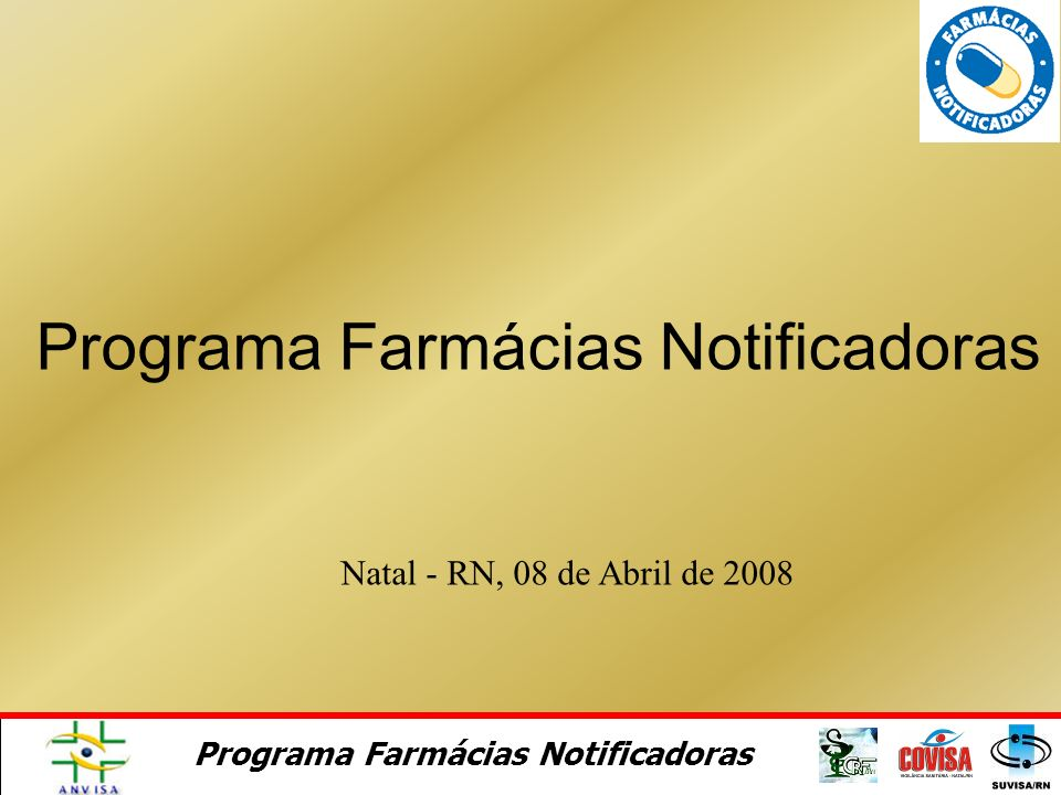 Programa Farmácias Notificadoras