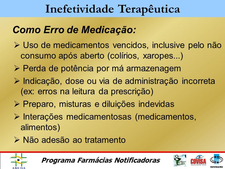 Inefetividade Terapêutica Como Erro de Medicação:
