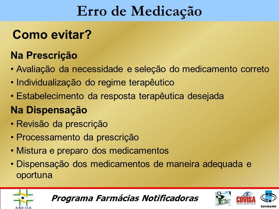 Erro de Medicação Como evitar Na Prescrição Na Dispensação