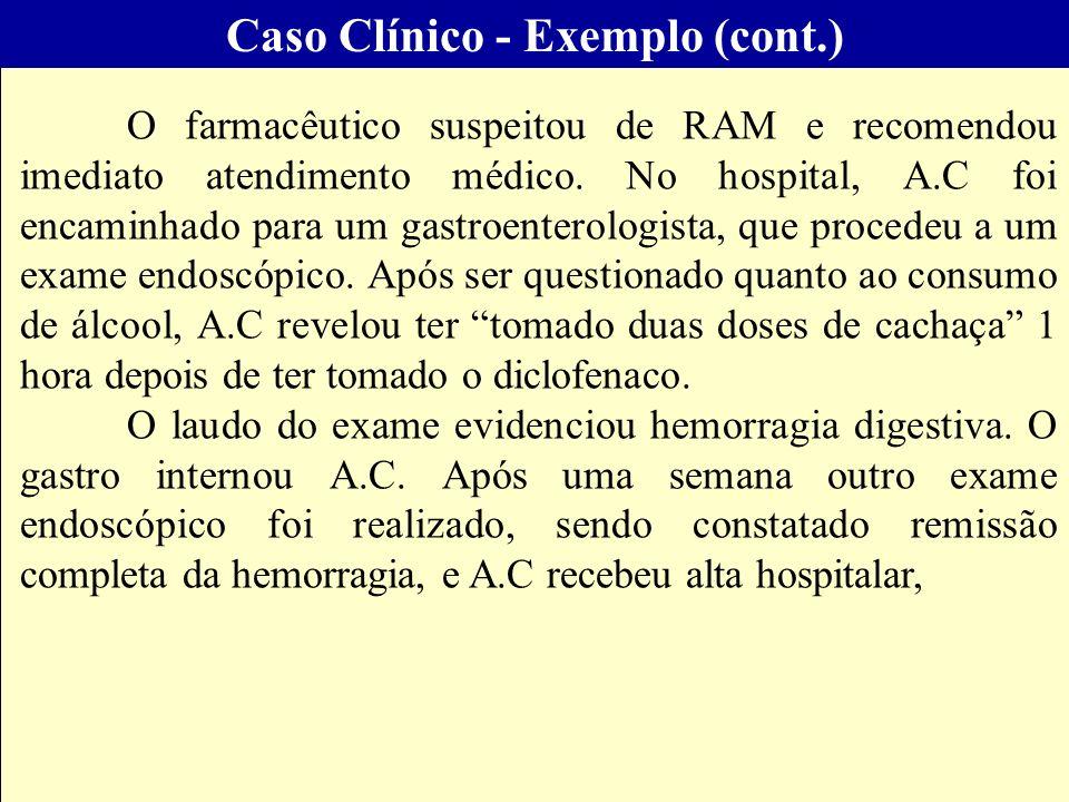 Caso Clínico - Exemplo (cont.)