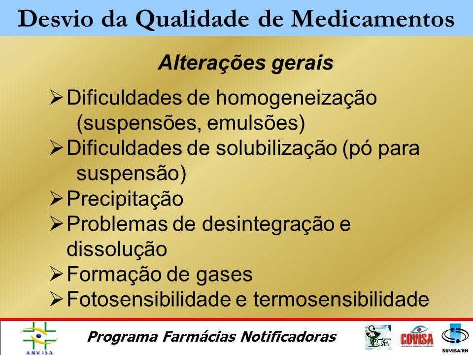 Desvio da Qualidade de Medicamentos