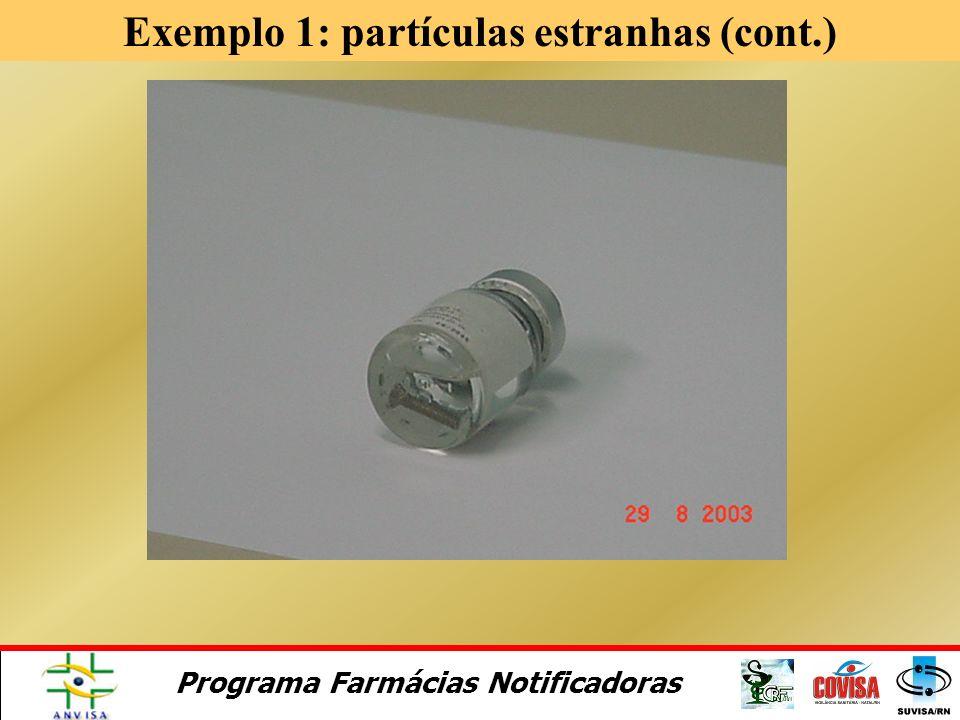 Exemplo 1: partículas estranhas (cont.)