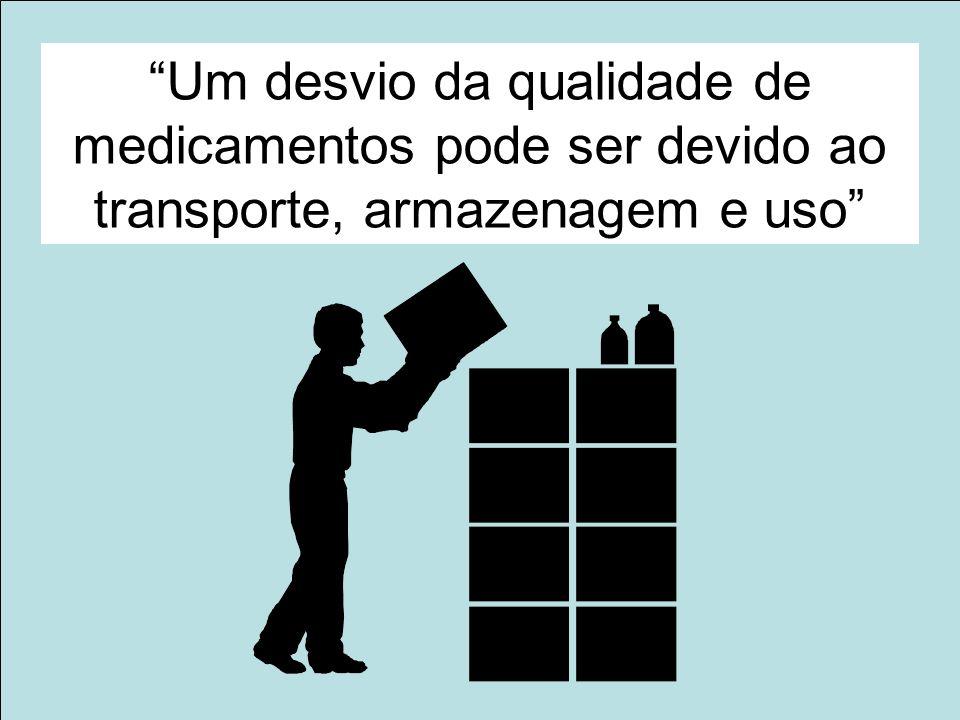 Um desvio da qualidade de medicamentos pode ser devido ao transporte, armazenagem e uso