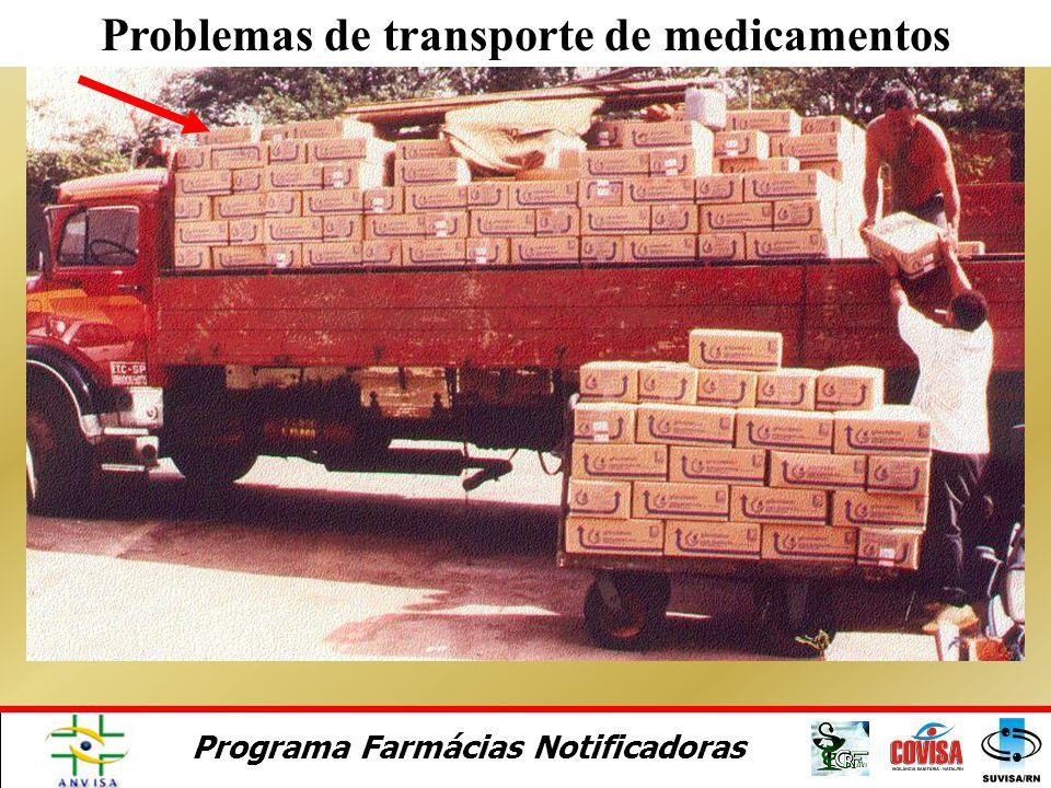 Problemas de transporte de medicamentos