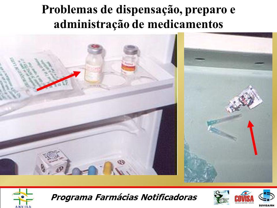 Problemas de dispensação, preparo e administração de medicamentos