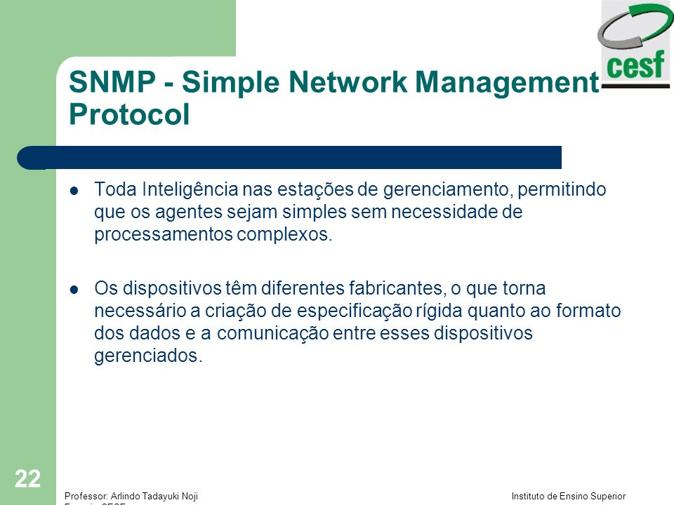 SNMP - Simple Network Management Protocol