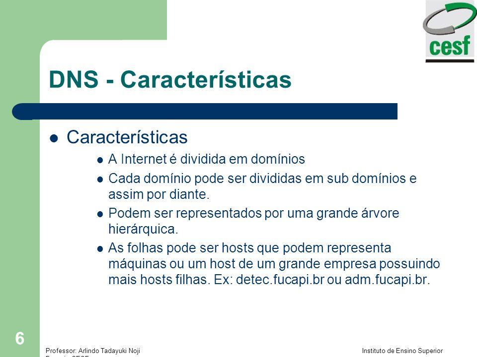 DNS - Características Características