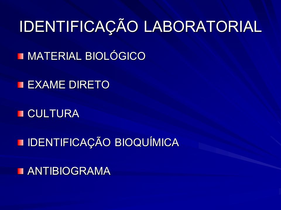 IDENTIFICAÇÃO LABORATORIAL