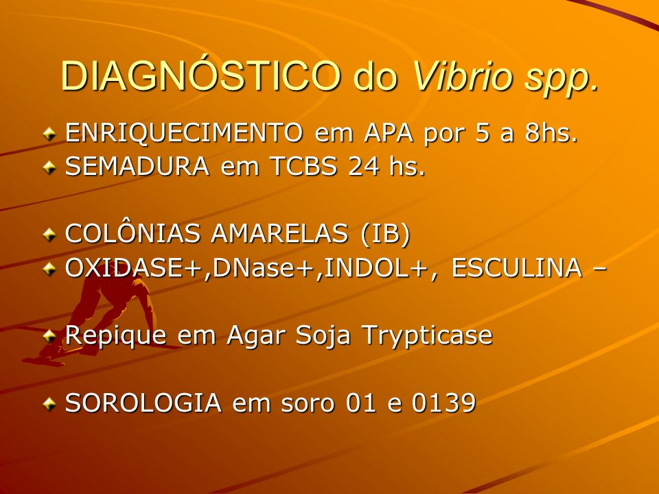 DIAGNÓSTICO do Vibrio spp.