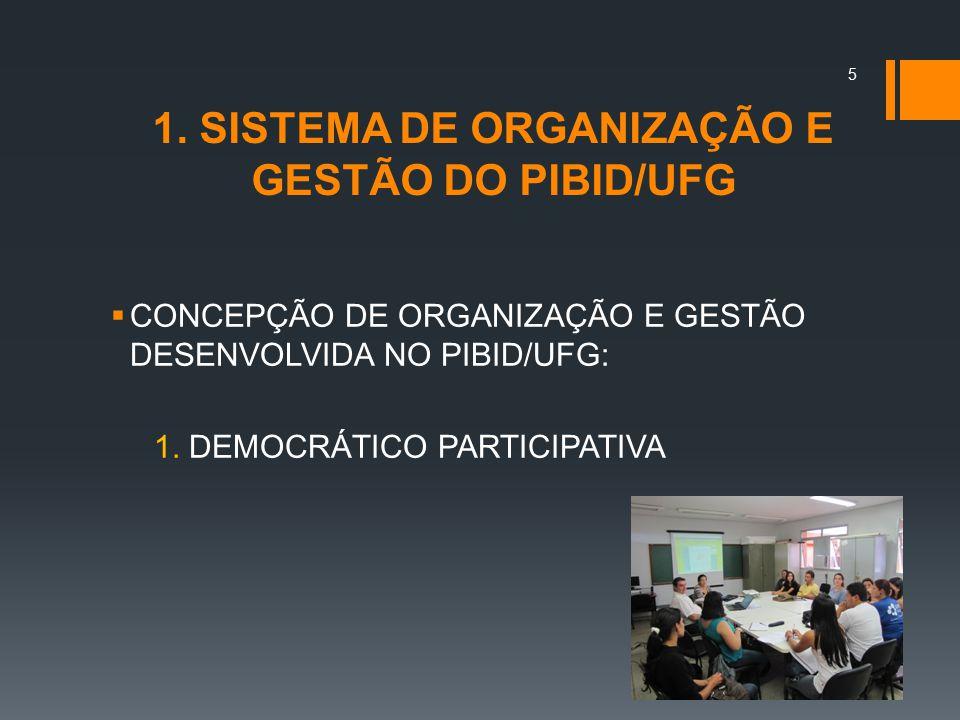 1. SISTEMA DE ORGANIZAÇÃO E GESTÃO DO PIBID/UFG